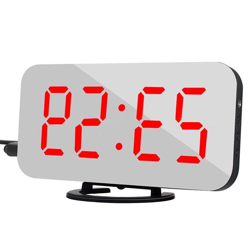 Multifunction LED Mirror <font><b>Clock</b></font> Digital Snooze Display Time Desktop <font><b>Alarm</b></font> <font><b>Clock</b></font> Despertador Decoration