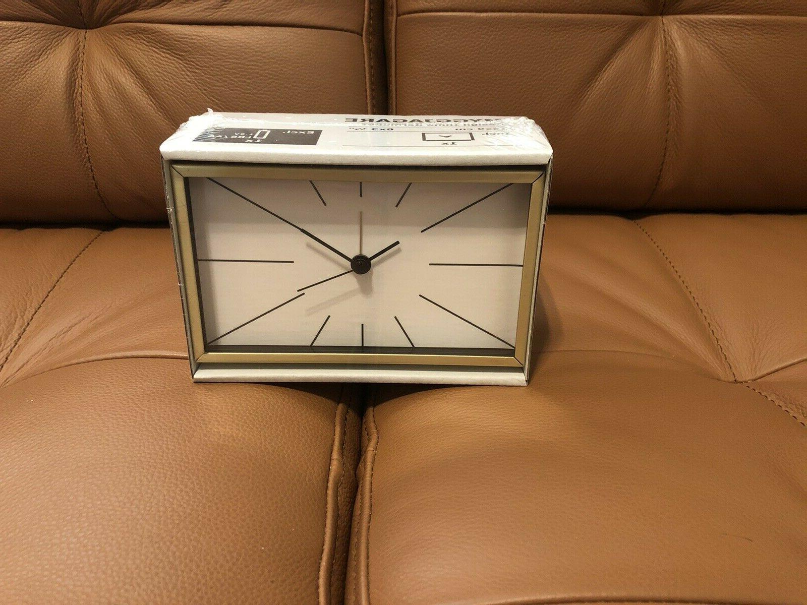 "Ikea Myggjagare Alarm Clock Gold brass Color 6x3 ½ "" 703.74"