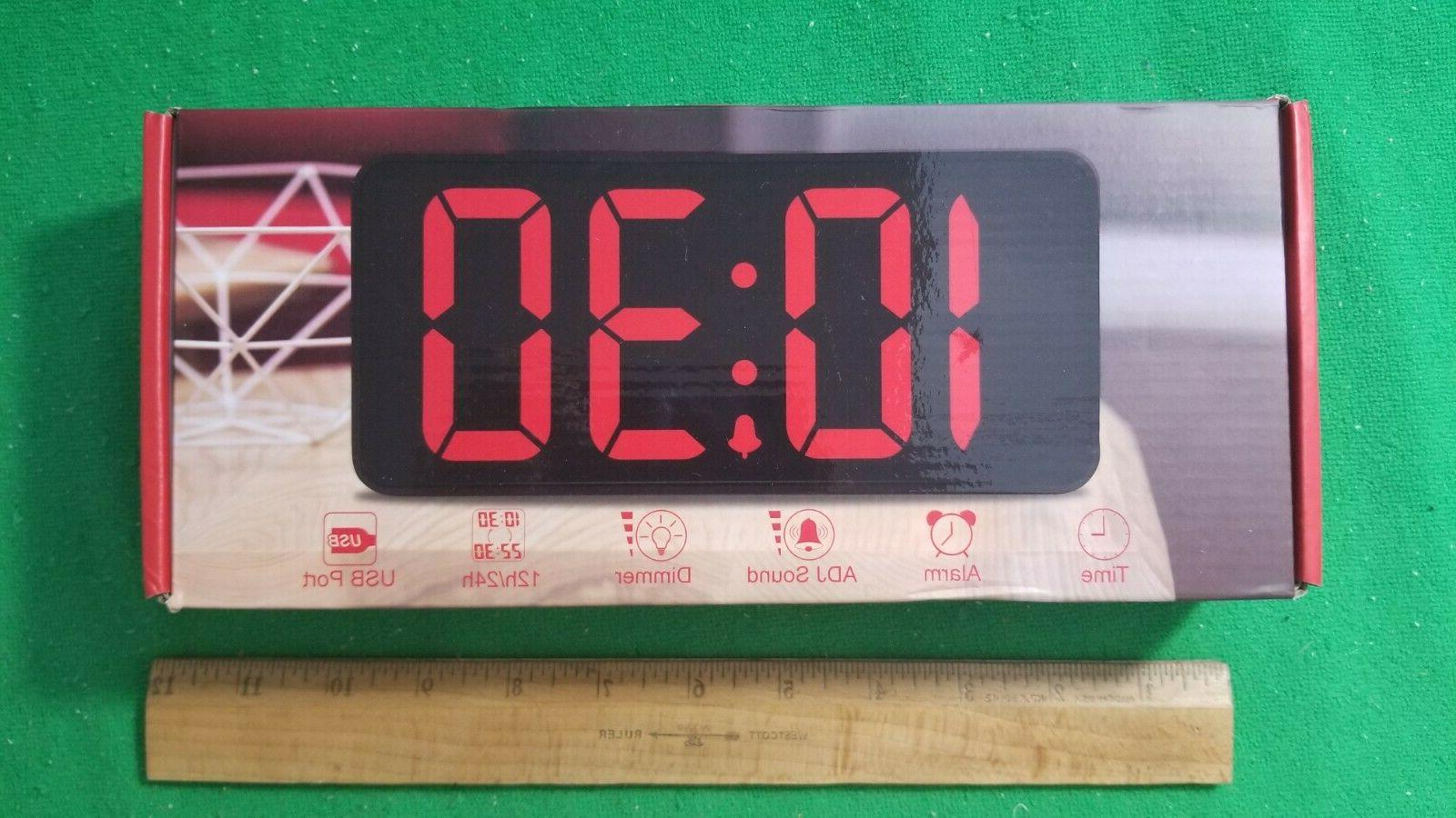 new white large digital alarm clock ds306wb