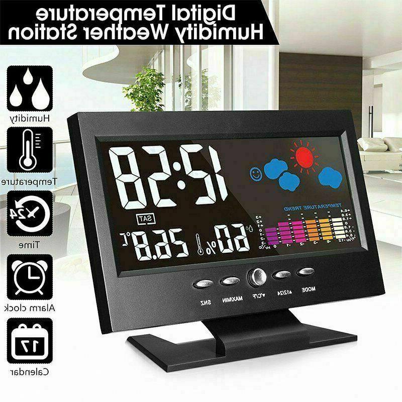 new led digital alarm clock snooze calendar