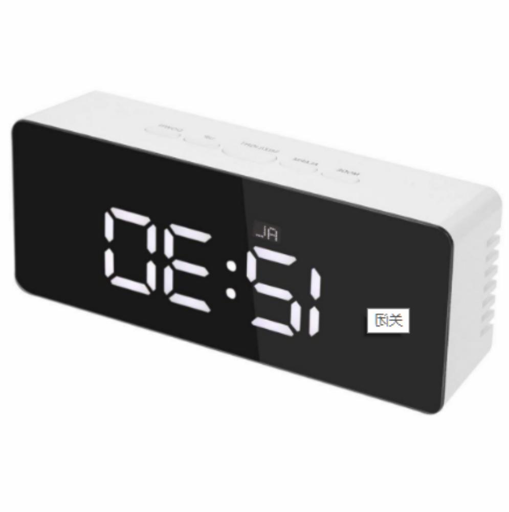 New Mirror LED Digital Alarm Lights Thermometer Wall