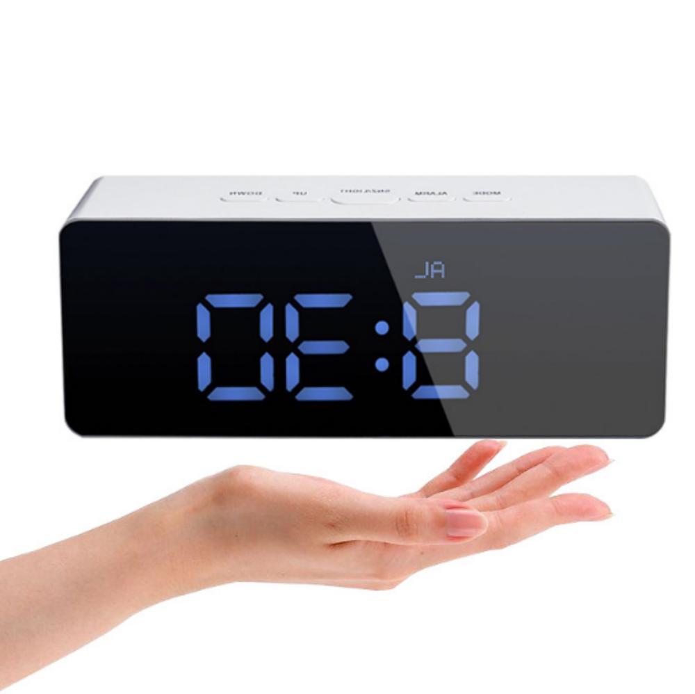 New Mirror Alarm Night Thermometer Wall