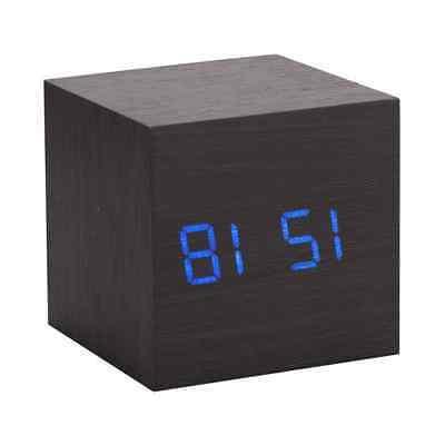 New Modern Wooden Digital Alarm Clock Thermometer