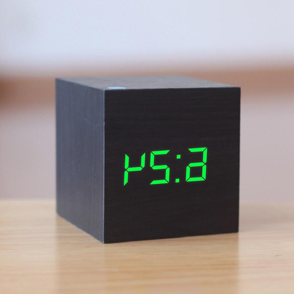 New Qualified LED <font><b>Clock</b></font> Retro Glow Table Decor Voice Snooze Desk