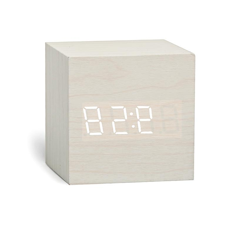 New Qualified Digital LED <font><b>Alarm</b></font> <font><b>Clock</b></font> Wood Retro Table Decor