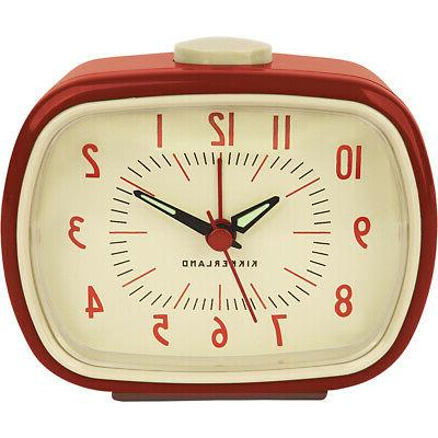 new retro red alarm clock w glow