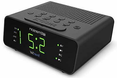 Clock with AM/FM Radio Dimmer Sleep New