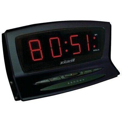 new westclox 70012bk instant set led alarm