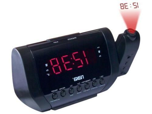 NAXA Electronics NRC-173 Projection Dual Alarm Clock Travel