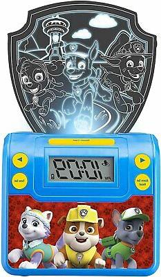 Paw Patrol Digital Alarm Clock with Night Light, Alarm Clock