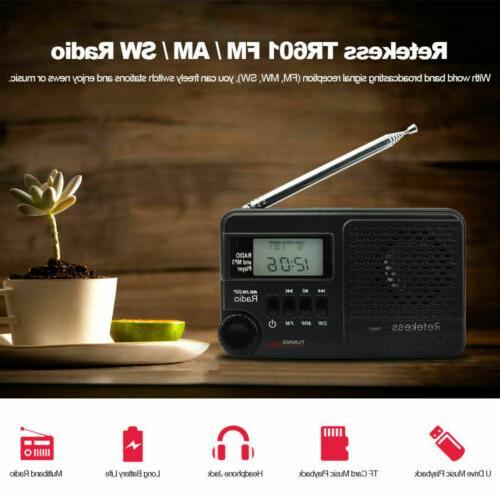 Retekess Digital Clock MP3 Player
