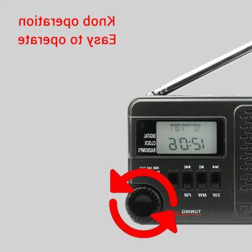 Retekess AM/SW/FM Digital Clock Player Rechargeable