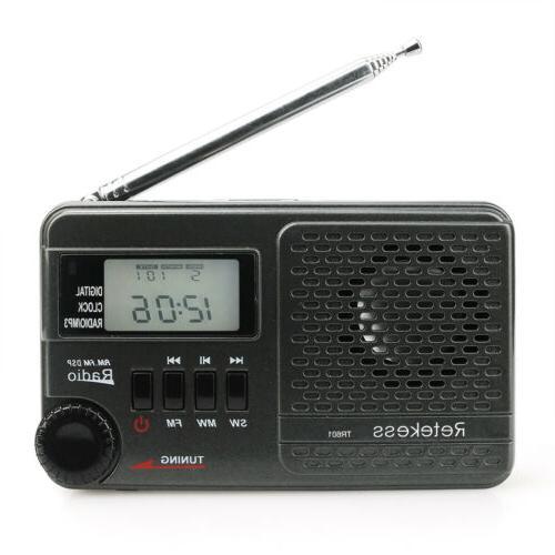 pocket tr601 am sw fm radio digital