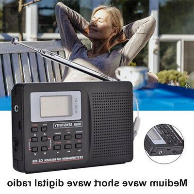 Portable Medium Short Wave Digital Radio AM/FM/SW/MW Stereo