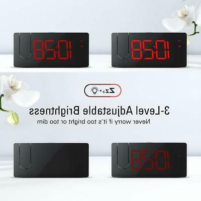 Projection Alarm Clock Dimmer Clock with USB Phone