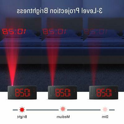 Projection Alarm Clock Dimmer USB Phone to ...