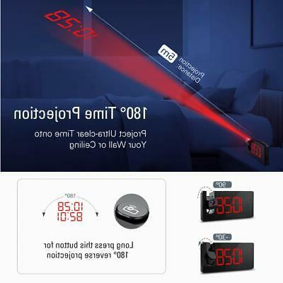 Projection Clock Dimmer Clock with USB Easy to