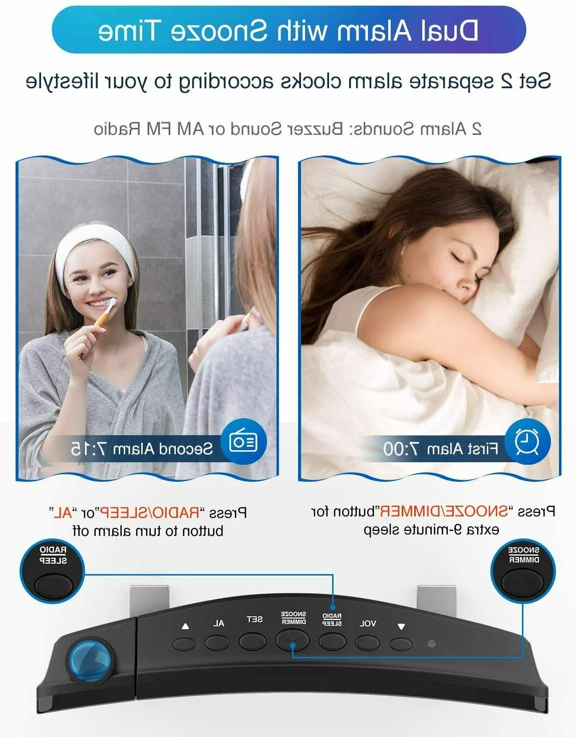 iRedBeau Alarm Curved-Screen Radio