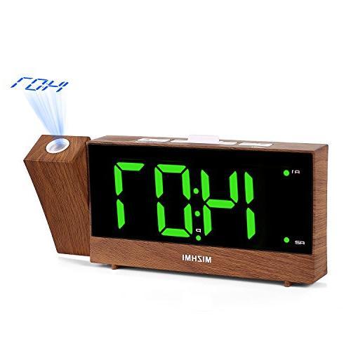 MIZHMI Projection Alarm Clock, Dual Alarm, Nap/Sleep Timer,
