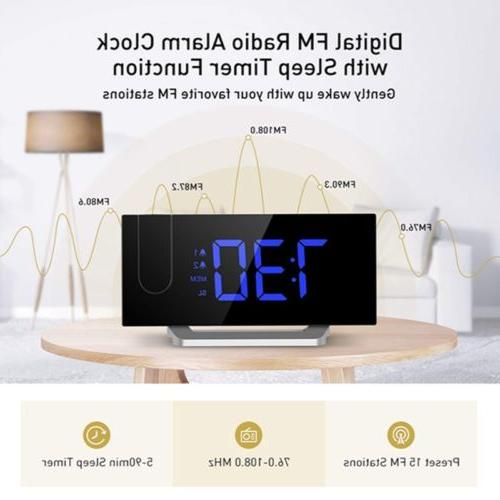 Mpow Alarm Clock FM Alarms 5'' Curved-Screen
