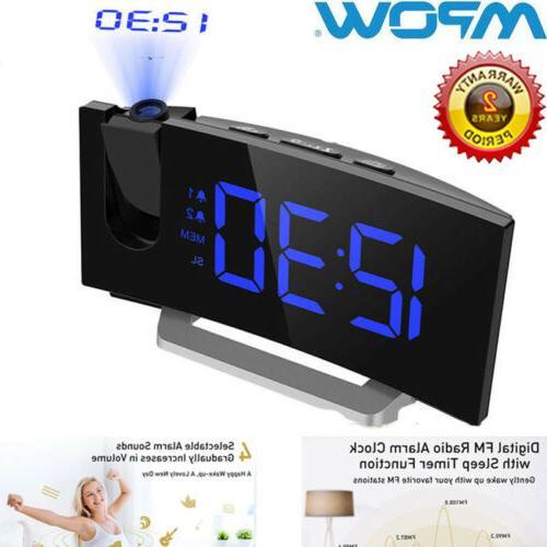projection alarm clock fm radio dual alarms
