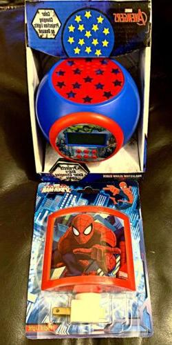The Avengers-Projection Alarm Clock Light Projects Stars&Spi