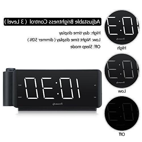 "DreamSky Alarm Radio Port FM Radio, 2"" Large Led with Volume, Snooze, Sleep Timer, DST Button, Display."
