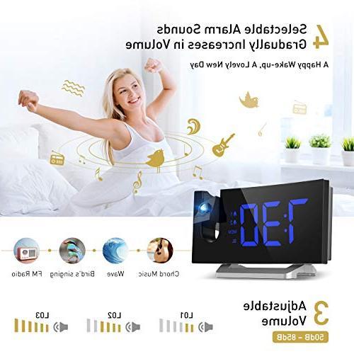 Mpow 5'' Curved-Screen Clock, Radio Clock, Dual Alarm Clock with 12/24