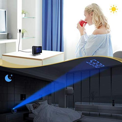 5'' LED Projection Clock, Alarm Clock, with Alarm 12/24