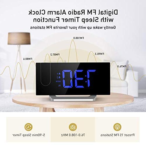 Mpow Alarm Clock, 5'' LED Clock, Clock, Dual Alarm with 12/24 Hour, Blue