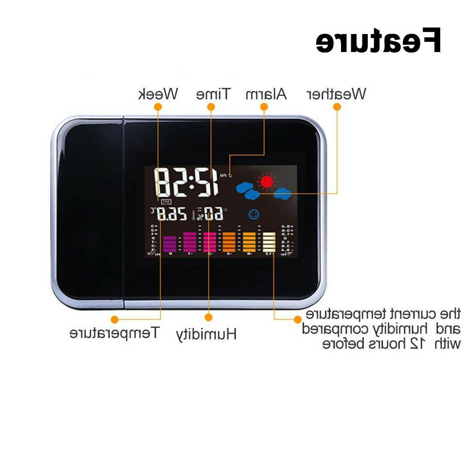 Projection Clock Snooze LED LCD
