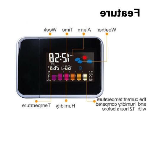 Projection Digital Alarm Clock Snooze Color
