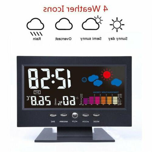Projection Alarm Clock Snooze Thermometer Color