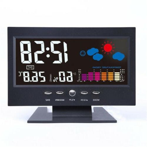 Projection Alarm Snooze Weather Thermometer LCD Color Display
