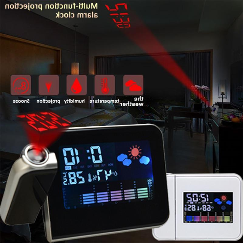Projection <font><b>Alarm</b></font> <font><b>Clock</b></font> Weather Station Thermometer Display Charger LED Projection