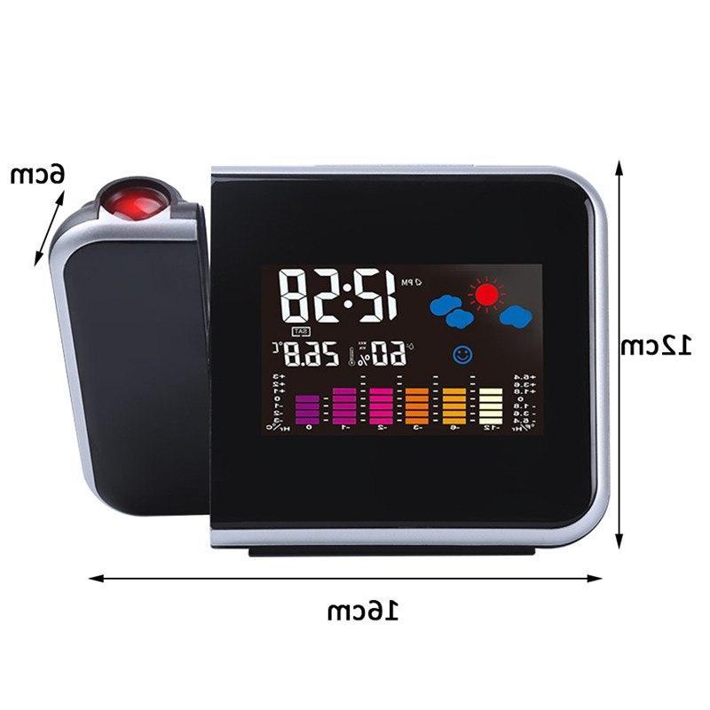 Projection <font><b>Alarm</b></font> <font><b>Clock</b></font> With Weather Station Display Digital <font><b>Clock</b></font> Charger Snooze