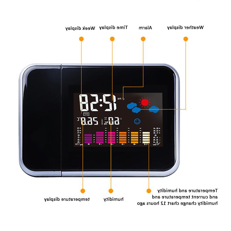 Projection <font><b>Alarm</b></font> Weather Station Display Charger