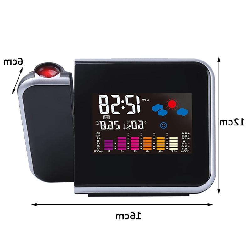 Projection <font><b>Clock</b></font> Weather Thermometer Display <font><b>Digital</b></font> Charger