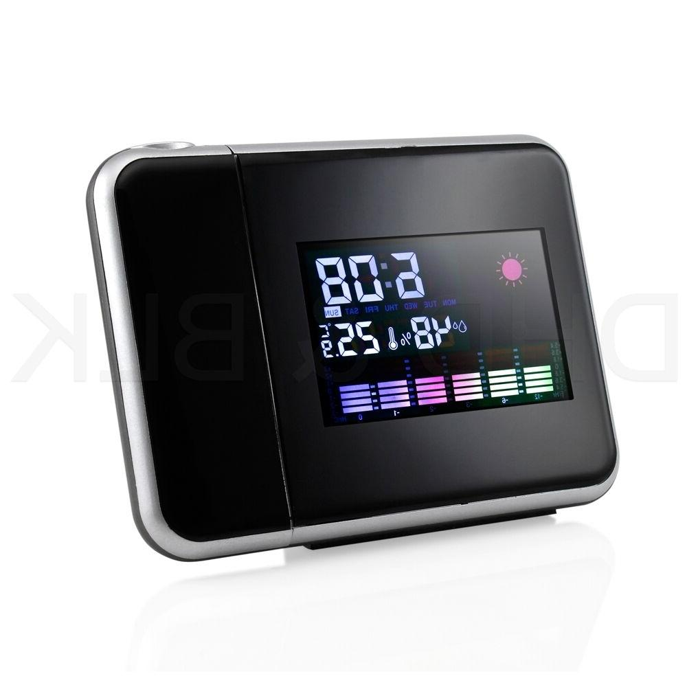 Projection Digital Weather LCD Snooze Alarm Display LED