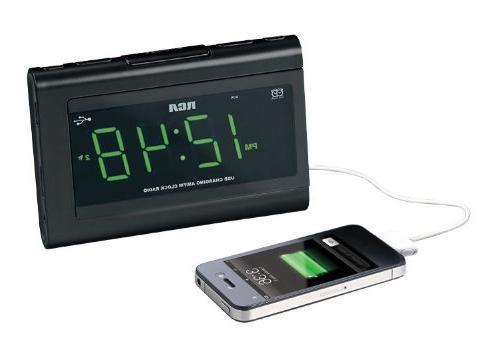 RCA Desktop Clock Radio - 2 Alarm - FM, -