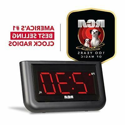 RCA Clock - Large Display with Brightness Control and Rep