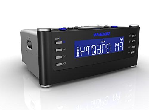 Sangean With Pll Clock Radio with Radio Controlled