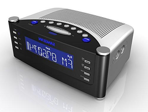Sangean RCR-22 Atomic Clock With Pll Synthesized Clock Radio with Controlled Clock