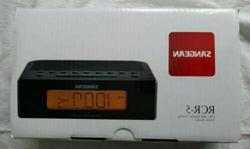 Sangean RCR-5 AM/FM Clock New Box