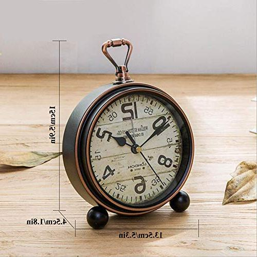 Justup Table Non-Ticking Beside Desk Alarm European Style Clock Operated Living