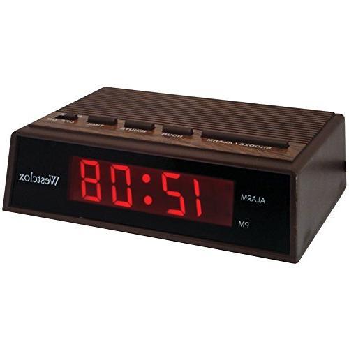 retro wood grain alarm clock