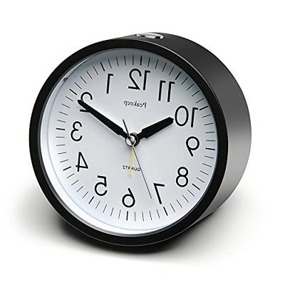 round silent alarm clock