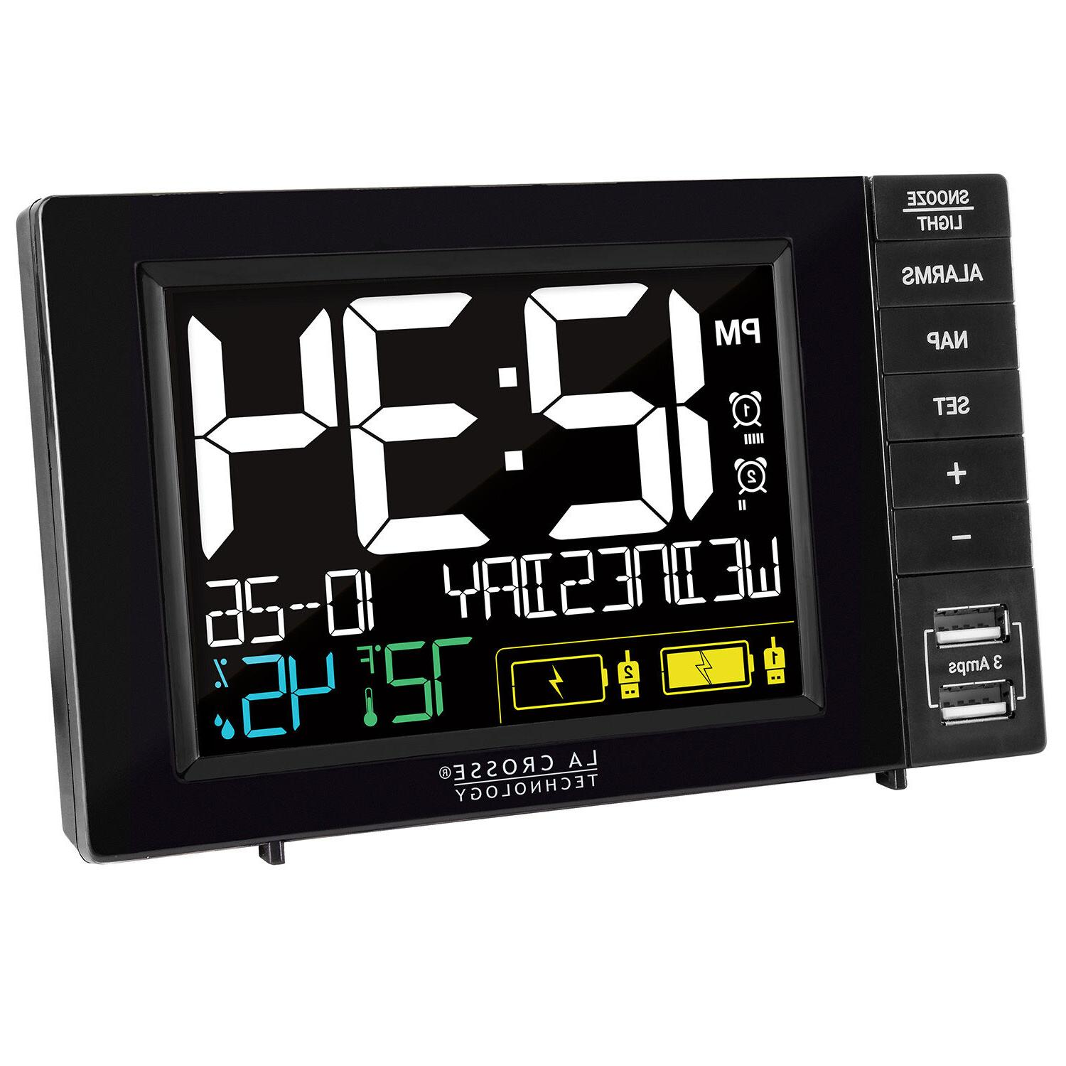317-1909 La Crosse Technology Dual Alarm Clock with 2 -