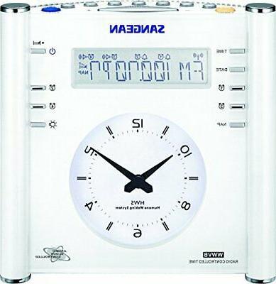 Sangean RCR-3 AM/FM Atomic Digital/Analog Clock Radio