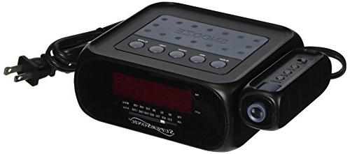 SuperSonic SC-371 Digital LED Projection Alarm Clock Radio w/Aux